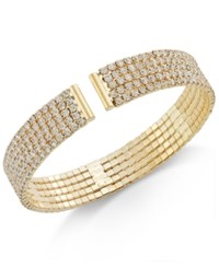 Inc International Concepts Gold Tone Crystal Flex Bracelet Only At Macy's