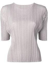 Issey Miyake Pleats Please By Pleated Top Grey
