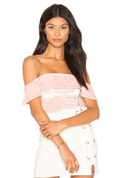 H Ours Off Shoulder Cheeky Bodysuit Pink