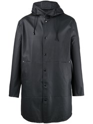 Stutterheim Hooded Raincoat Men Cotton Polyester Pvc S Black