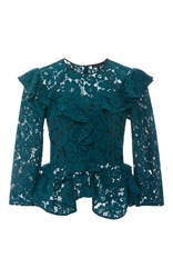 Marissa Webb Gabrielle Bloom Lace Blouse Blue