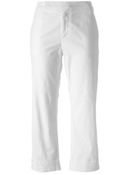 Douuod 'Singapore' Cropped Trousers White