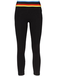 No Ka' Oi Knockout Rainbow Waist Leggings Black