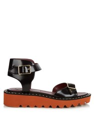 Stella Mccartney Odette Faux Leather Sandals Black