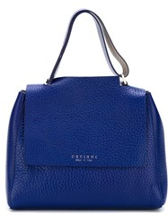 Orciani Small Classic Tote Blue