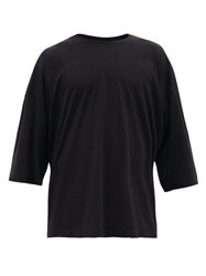 Haider Ackermann Oversized Cotton Jersey T Shirt Black