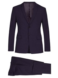 Prada Single Breasted Wool Blend Suit Purple