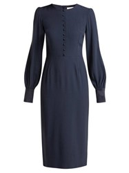 Goat Henessy Crepe Pencil Dress Navy