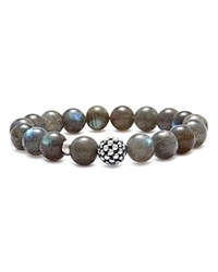 Lagos Sterling Silver Caviar Ball Beaded Labradorite Bracelet 10Mm Slate