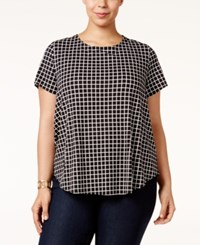 Alfani Plus Size Printed T Shirt Only At Macy's Small Open Grid