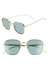 Kendall Kylie Dana 50Mm Square Sunglasses Gold Green Gold Green