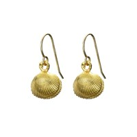 Chupi There Is Magic Within Seashell Locket Earrings In Gold