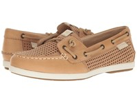 Sperry Coil Ivy Perf Tan Women's Moccasin Shoes