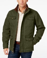 G.H. Bass And Co. Men's Four Pocket Field Jacket Olive