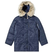 Nanamica Harbor Down Coat Blue