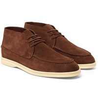 Loro Piana Sailing Walk Suede Desert Boots Brown