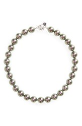 Majorica Women's 14Mm Simulated Pearl Strand Necklace Grey
