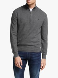 Ralph Lauren Polo Half Zip Sweater Dark Grey Heather