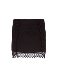 Relish Mini Skirt With Lace Detailing Black