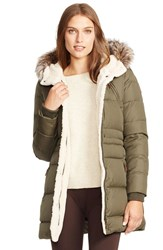Women's Lauren Ralph Lauren Faux Fur Trim Down And Feather Fill Parka