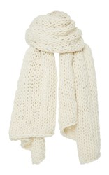 I Love Mr. Mittens Extra Large Cableknit Scarf White