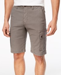 Lucky Brand Men's Stretch Sateen Cargo Shorts Charcoal Gray