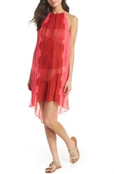 Ted Baker London Happiness Pleated Cover Up Neon Pink