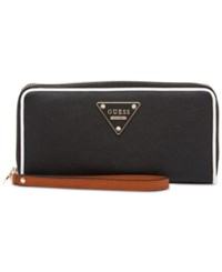 Guess Clare Large Zip Around Wallet Black