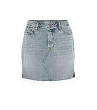 Grlfrnd Blaire High Waisted Denim Miniskirt Blue