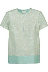 Richard Nicoll Metallic Jacquard Top Green