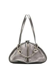 Rodo Chain Detail Tote Grey