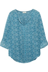 Joie Dasha Printed Silk Charmeuse Blouse