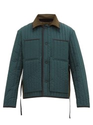 Craig Green Two Tone Quilted Panel Worker Jacket Green