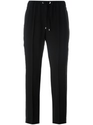 Brunello Cucinelli Drawstring Cropped Track Pants Black