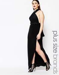 Missguided Plus Multiway Maxi Dress Black