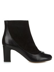Tabitha Simmons Beatrix Leather And Suede Ankle Boots Black