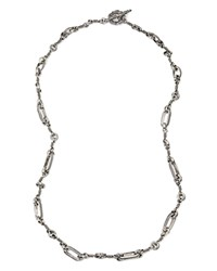 Stephen Dweck Elongated Chain Necklace 28 Silver