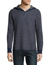 Lucky Brand Hooded Knit Sweater Grey