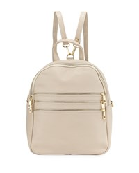Neiman Marcus Triple Zip Leather Backpack Off White