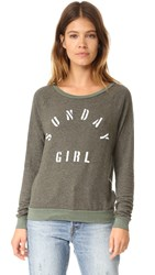 Sol Angeles Sunday Girl Pullover Military