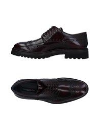 Cristiano Gualtieri Lace Up Shoes Maroon