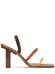 Cult Gaia 70Mm Kaia Leather Sandals Brown