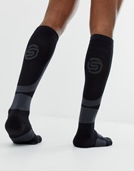 Skins Running Peformance Compression Socks In Black