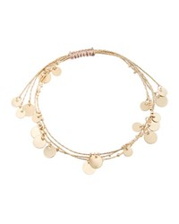 Lydell Nyc Chain Disc Adjustable Bracelet Gold