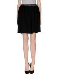 Moschino Couture Knee Length Skirts Black
