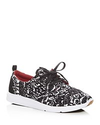Toms X Prabal Gurung Del Rey Lace Up Sneakers Snow Leopard Black White