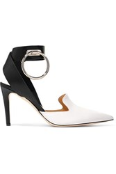 Monse Embellished Two Tone Leather Pumps White