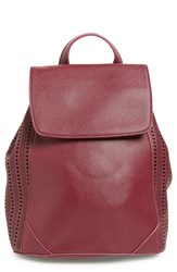 Junior Women's Emperia Faux Leather Perforated Backpack Red Berry