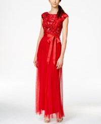 Patra Beaded Belted Gown