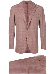 Tombolini Plaid Two Piece Suit Red